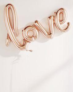 "cupcakekristie: ""rose gold love balloon """