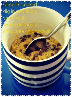 Major Cake: Individual Chocolate chip Cookie in a Mug
