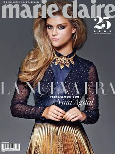 Nina Agdal on Marie Claire Mexico October 2014 Cover