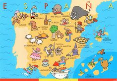 """Map of Spain... This is definetely what we should use to """"plan"""" our trip haha."""