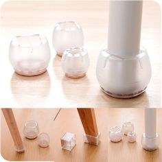 1pcs Plastic Furniture Table Chair Cabinet Leg Foot Feet Mat Pad Protector Base Cap Cover Antiskid Floor Protection Silencer