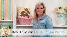 How to Make an Easter Bunny Pillow using Fusible Applique | with Jennifer Bosworth of Shabby Fabrics- Learn how to make a quick Easter Pillow featuring an adorable cottontail bunny!