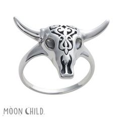 Image of Cow skull ring (Sterling silver)