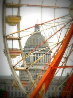Capitol Dome at Lakefair  Olympia, Wa