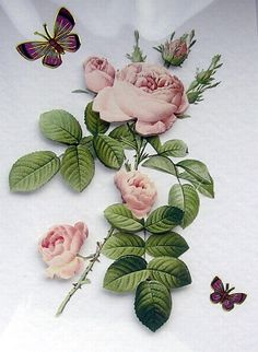 Rose HandCrafted 3D Decoupage Card Blank for any by SunnyCrystals, £1.35 #card #decoupage #birthday #wedding #rose #pink #garden
