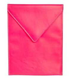 Under Cover - Pink Leather Envelope iPad Case