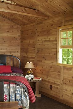 Stained Rough Sawn Cedar Paneling Country Store