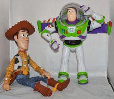 Disney/Pixar Toy Story Interactive Buddies Talking Buzz Lightyear & Woody Figures