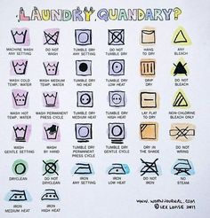 21 Hacks To Look Stylish AF On A College Budget - decoding laundry symbols
