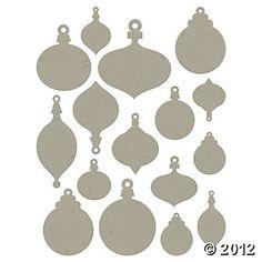 Chip Art Christmas Ornament Die Cuts