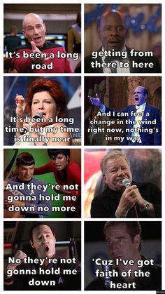 The perfect Star Trek theme song. Star Trek Meme, Star Trek 1966, Star Wars Humor, Star Trek Enterprise, Star Trek Voyager, Star Trek Theme Song, Nerd Memes, Funny Memes, Watch Star Trek