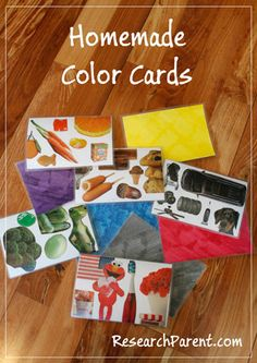 Homemade Color Cards - Learning Material for Babies and Toddlers - ResearchParent.com