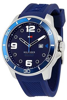 Tommy Hilfiger 1791156 Keith Mens Watch - Blue Dial * You can get more details by clicking on the image.