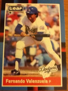 Fernando Valenzuela - 1988 Leaf, Los Angeles Dodgers Baseball Card #61