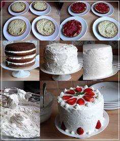 layers cake à la fraise et chantilly mascarpone b