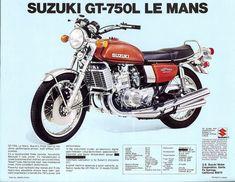 VINTAGE SUZUKI GT-750J LeMANS IMAGE BANNER NOS IMAGE REPRODUCTION