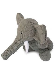 Elephant, found on :  http://www.womansday.com/home/craft-ideas/craft-project-knitted-toy-elephant-112798