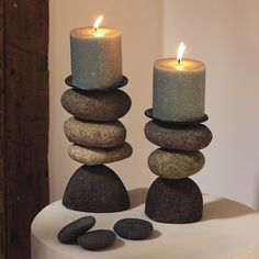 Ancient Graffiti Cairn Candle Holder - 3-Stone - Save 43%