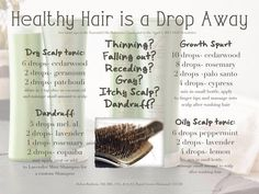 Healthy hair with Young Living Essential Oils // dandruff // dry scalp // growth spurt // oily scalp www.facebook.com/OilMum