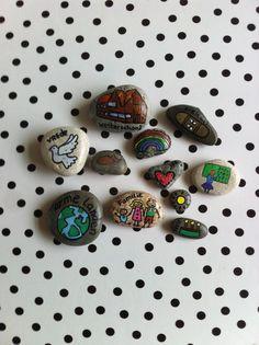 Bidstenen, gebedsstenen, (prayerstones, story  stones) voor op school.