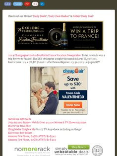 Win a trip for two to France with a value of more than $8,000!