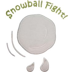 Snowball Fight Applique