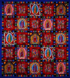 I would learn how to quilt just to make this! Our Lady of Guadalupe Quilt from Fine Line Fiber Arts