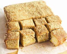 Cinnamon and Bramley Apple Tray-Bake Recipe  