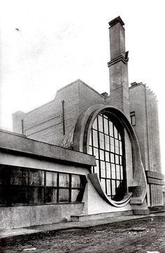 Visions of an Industrial Age // Russia, Moscow, 1936, Gosplan Garage. - melnikov Designed by Melnikov