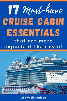Make sure to bring these 17 essential cruise cabin accessories, to keep your stateroom organized and comfortable. Plus, the best items to santitize your cabin. Alaska Cruise Tips, Cruise Packing Tips, Cruise Travel, Cruise Vacation, Packing Lists, Vacations, Cruise Ship Reviews, Best Cruise Ships, Cruise Excursions