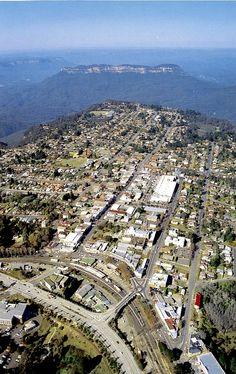The town of Katoomba, Blue Mountains, NSW, Australia