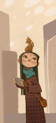 girl and cat by ~honkfu ✤ || CHARACTER DESIGN REFERENCES | Find more at https://www.facebook.com/CharacterDesignReferences if you're looking for: #line #art #character #design #model #sheet #illustration #expressions #best #concept #animation #drawing #archive #library #reference #anatomy #traditional #draw #development #artist #pose #settei #gestures #how #to #tutorial #conceptart #modelsheet #cartoon #toddler #baby #kid