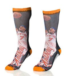 FOR BARE FEET NBA Carmelo Anthony New York Knicks crew sock Stretch fabric for ultimate comfort Moisture resistant Padded heel for performance