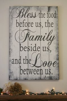 """This is a wood pallet sign that is available in two different sizes - 16"""" x 24"""" or 24"""" x 30"""". (24"""" x 30"""" size shown in picture).The background is White. Lettering is Dark Gray.This piece is handpainted and sanded for a distressed/vintage look. It is then sealed with a water based finish.The back is left unfinished and"""