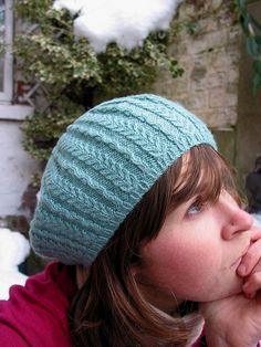 Cabled Beret by Veronik Avery free knitting pattern on Ravelry at http://www.ravelry.com/patterns/library/cabled-beret-7