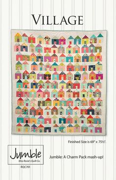 Village by Miss Rosie's Quilt Co~~always been a sucker for a house quilt and one of Carrie's...perfection.