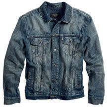 Mens Distressed Denim Jacket   MotorClothes® Merchandise   Harley-Davidson USA
