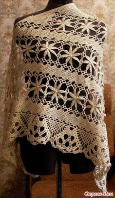 For instructions, click here:   http://ergahandmade.blogspot.gr/2015/06/crochet-stitches.html  Via:  http://www.stranamam.ru/po...