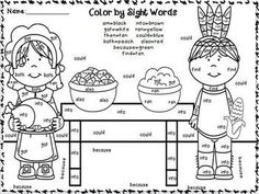 Hearts Color by Sight Word Kindergarten sight words Worksheets