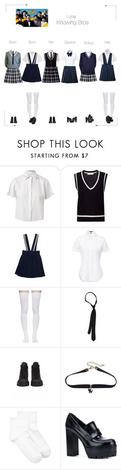 """""""Lunar (루나) Knowing Bros"""" by lunar-official ❤ liked on Polyvore featuring Christopher Kane, Le Ciel Bleu, Theory, French Toast, Marieyat, French Connection, Ann Demeulemeester, HUE, Mulberry and lunarvariety"""