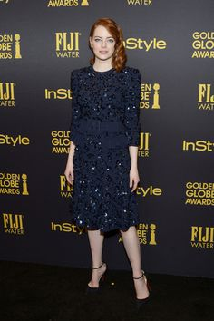 EMMA STONE AT THE INSTYLE GOLDEN GLOBE AWARDS CELEBRATION