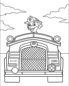 marshall paw patrol coloring pages - Google Search