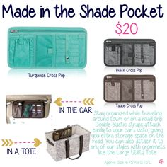 Made in the Shade Pocket by Thirty-One. Fall/Winter 2015. Click to order.  Fall / Winter 2015.  Thirty One Gifts!  Join my FB. group,a place for my Customers and new future Customers!  NO 31 Consultants please! Thanks https://www.facebook.com/groups/221123648035423/
