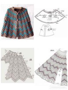 Fabulous Crochet a Little Black Crochet Dress Ideas. Georgeous Crochet a Little Black Crochet Dress Ideas. Crochet Cape Pattern, Poncho Crochet, Crochet Shawl Diagram, Crochet Diy, Crochet Skirts, Crochet Scarves, Crochet Clothes, Crochet Stitches, Crochet Patterns