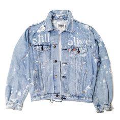 """SKULL MOON"" Trucker Levi's Vintage (MADE IN FRANCE) The jacket is created in a single copy, the artist - designer Myroslav Fareniuk. Denim Jacket Fashion, Denim Coat, Custom Clothes, Diy Clothes, Denim Jackets, Jean Jackets, Distressed Denim, Fashion 2020, Outfits For Teens"