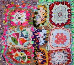 amanda goode.   Reminds me of a gypsy caravan afghan -- gotta try this!