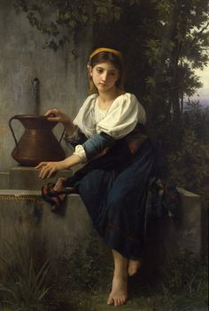 Elizabeth Jane Gardner Bouguereau- Young Girl at the Well
