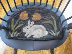 My Spring Bunny hooked rug , Old Rose Cottage design Old Rose, Hand Hooked Rugs, Rose Cottage, Cottage Design, My Spring, Punch Needle, Rug Hooking, Hand Fan, Bunny