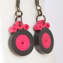 Tutorial for Paper Quilled Circle Earrings