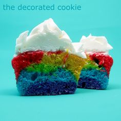 even more rainbows (the cake and cupcakes) | The Decorated Cookie